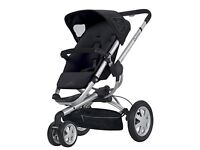 Quinny 2012 Buzz Stroller Black with Car Seat & Carrycot