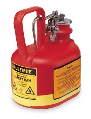 Justrite 14065 12 Gal. Red Polyethylene Type I Safety Can For Flammables