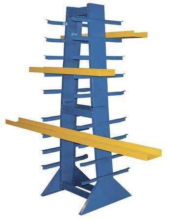 """Vestil Dshz-4 Double Sided Horizontal Bar Rack 30""""W"""