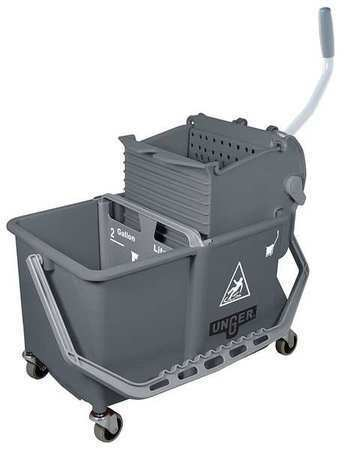 Unger Comsg Mop Dual Bucket With Side Wringer,4 Gal.