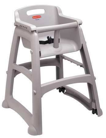 RUBBERMAID FG780608PLAT Youth High Chair, Platinum