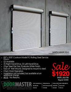 Rolling Steel Garage Door Sale!