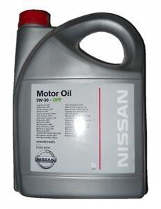 5w 30 genuine nissan low ash dpf fully syn engine motor for Nissan versa motor oil