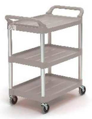 Rubbermaid Fg342488plat Plastic Raised Handle Utility Cart 200 Lb. Capacity