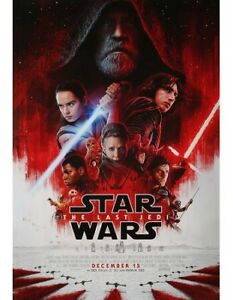 Star Wars Last Jedi 27x40 Theatrical Double Sided Poster