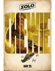 BRAND NEW SOLO: A Star Wars Story Teaser Poster - Chewie