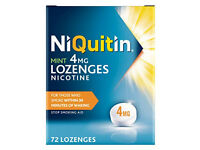 7 brand new packs of NiQuitin Mint Lozenges-Nicotine- stop smoking aid