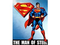 Superman Tin Poster Vintage Comic Book Style