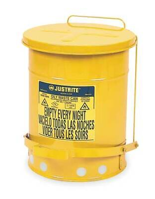 Justrite 09101 Oily Waste Can6 Gal.steelyellow