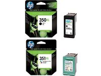 GENUINE HP Printer Cartridges 350, 350 XL, 351XL - I have bought new printer so no longer required.