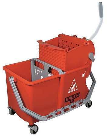 Unger Comsr Mop Dual Bucket With Side Wringer,4 Gal.