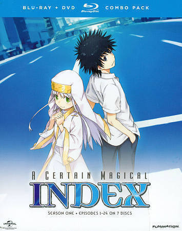A Certain Magical Index: Season One (Blu-ray/DVD, 2014, 7-Disc Set)