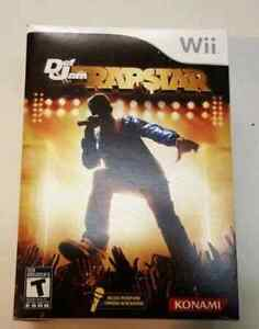 Wii game Def jam rapstar with mic. Unopened