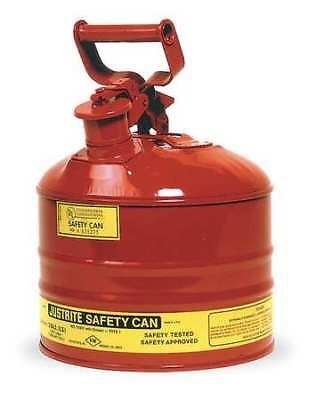 Justrite 7125100 2-12 Gal. Red Steel Type I Safety Can For Flammables