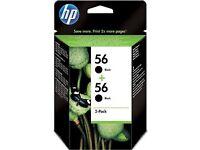 HP 56 2-pack Black Original Ink Cartridges (C9502AE) unopened