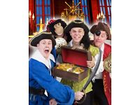 CBeebies 'Spotbots' and 'Justin's House' stars in 'Treasure Island'