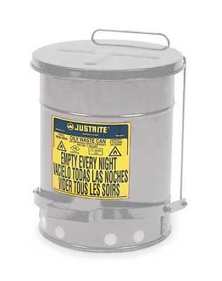 Justrite 09304 Oily Waste Can10 Gal.steelsilver