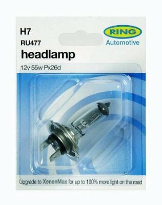 RING H7 499 477 X 2 HEADLAMP HEADLIGHT BULBS MAIN DIP BEAM HALOGEN 12V 55W BULB