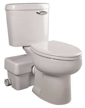 Liberty Pumps Ascentii-Rsw Macerating Toilet,Round,1/2 Hp,115V