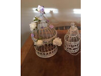 Bird cages for sale - with decorations. Wedding.
