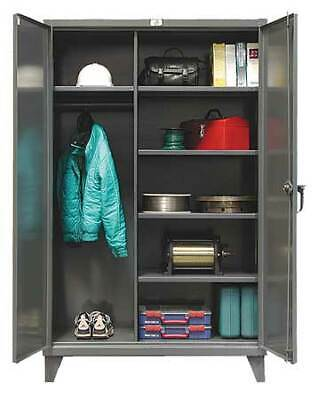 Strong Hold 46-w-245 Combination Storage Cabinet Dark Gray
