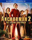 Anchorman 2: The Legend Continues (Blu-ray/DVD, 2014, 2-Disc Set, Includes Digital Copy)