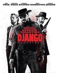 Django Unchained (Blu-ray Disc, 2014, RED CASE SteelBook 3 DISC SET) DISC MINT