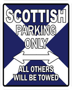NOVELTY PARKING SIGN CELTIC WRAP, SKIRT KILT BEACH TOWEL COASTER