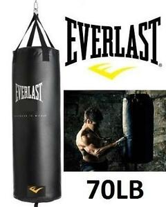 NEW* EVERLAST 70LB PUNCHING BAG EXERCISE FITNESS WORKOUT BOXING SPAR MMA 109759331