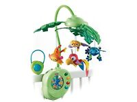 Fisher price rainforest cot mobile and play mat Cost nearly £100 new