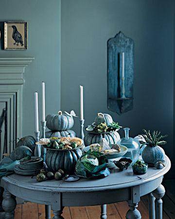 blue gourds from Martha Stewart
