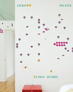 Blik Removable Arcade Game Theme Wall Decals, Complete tubes.