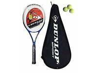 "Dunlop Blaze 100 Tennis Racket + Cover Grip size L3 - 4 3/8"". Pick up only evening 6pm/weekend"