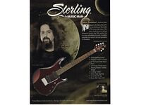 Sterling by Musicman John Petrucci JP50 guitar (pearl red colour)
