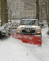 Snow plowing in Fall River area