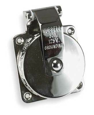 Hubbell Wiring Device-kellems Hbl303ss 30a Marine Flanged Twist-lock Inlet 2p