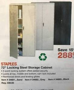 NEW Black Locking Steel Storage Cabinets