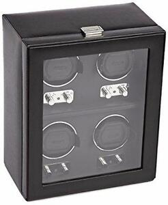 Wolf Designs 270602 Heritage Module 2.1 Four Watch Winder with Cover