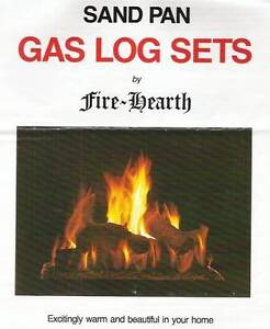 GAS LOG FIREPLACE SET