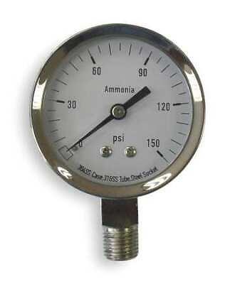 Zoro Select 4cfw4 Pressure Gaugeag Ammonia2 12in150psi