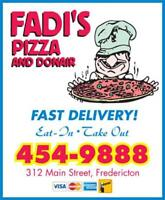 FADIS PIZZA - Server and Delivery Driver needed