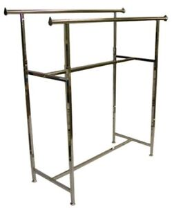 Two Sided /  Double Rail Clothing Rack