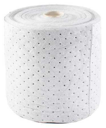 Condor 35Zr40 Absorbent Roll, Absorbs 25 Gal. Oil-Based Liquids, ,White