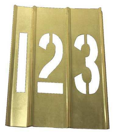 Zoro Select 20Y511 Number Stencils,Brass, 15Pcs
