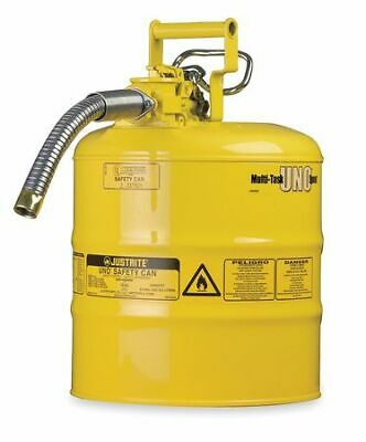 Justrite 7220220 2 Gal. Yellow Steel Type Ii Safety Can For Diesel