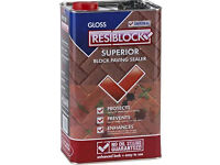 5 litre x 4 ResiBlock paving sealant. Gloss finish New and sealed