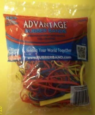 Rubber Bands 54 Asst Sizes Colors 2oz. Bag Advantage Multi Color B14