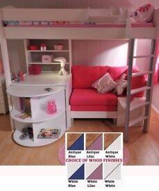 Stompa Casa 4 Childs High Sleeper Bed