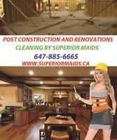 Superior Maids  provide Post renovation/ construction cleaning
