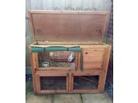 4ft Two Tier Rabbit Hutch